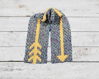 Arrow Scarf, C2C Crochet Pattern, Written Row Counts, C2C Graphs, Corner to Corner, Crochet Pattern, C2C Graph
