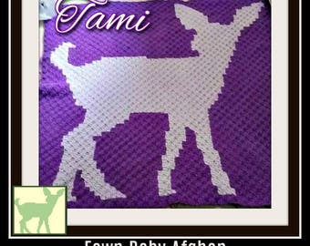Fawn Baby Afghan, C2C Graph, Written Word Chart