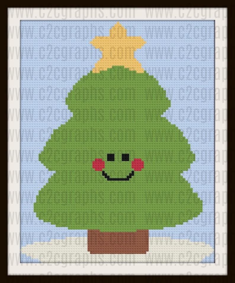 Happy Pine Afghan, C2C Crochet Pattern, Written Row Counts, C2C Graphs,  Corner to Corner, Crochet Pattern, C2C Graph
