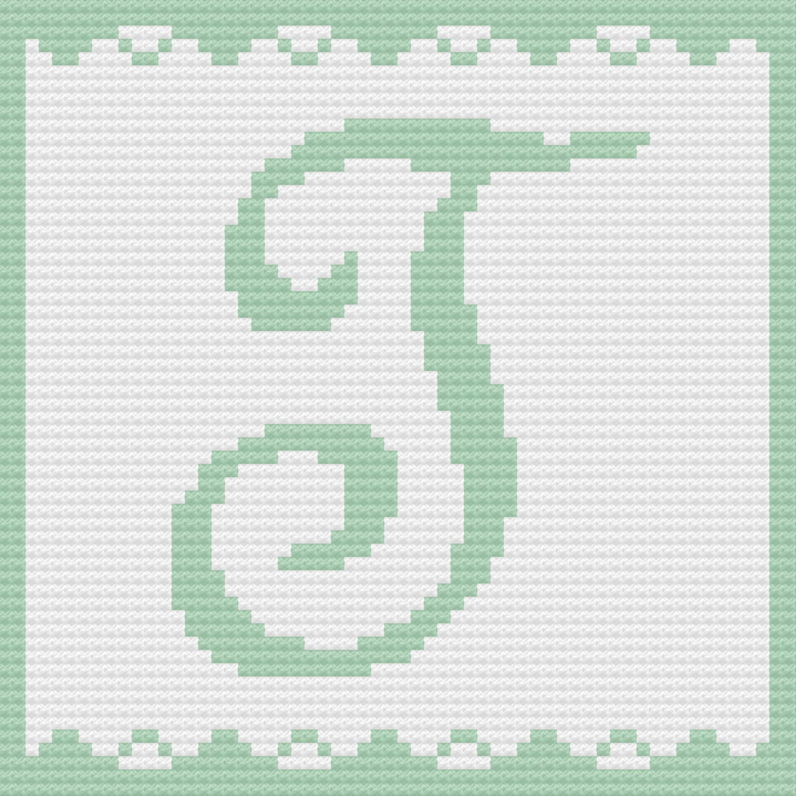 Letter T Baby Afghan C2c Crochet Pattern Written Row By