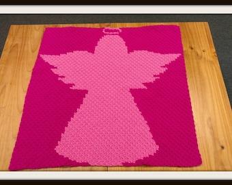 Angel Silhouette Kids Afghan, C2C Crochet Pattern, Written Row Counts, C2C Graphs, Corner to Corner, Crochet Pattern, C2C Graph