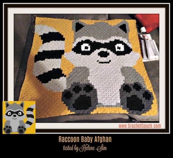 BEAR FAWN RACCOON Graph//Chart Afghan Pattern WOODLAND BABIES Crochet Patterns