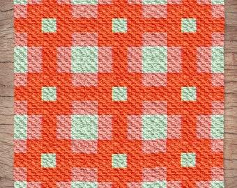 Cassandra Quilt Blanket, C2C Crochet Pattern, Written Row Counts, C2C Graphs, Corner to Corner, Crochet Pattern, C2C Graph
