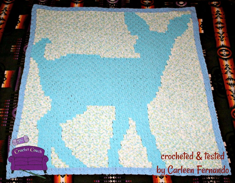 Fawn Baby Afghan, C2C Crochet Pattern, Written Row by Row, Color Counts,  Instant Download, C2C Graph, C2C Pattern, C2C Graphgan Pattern