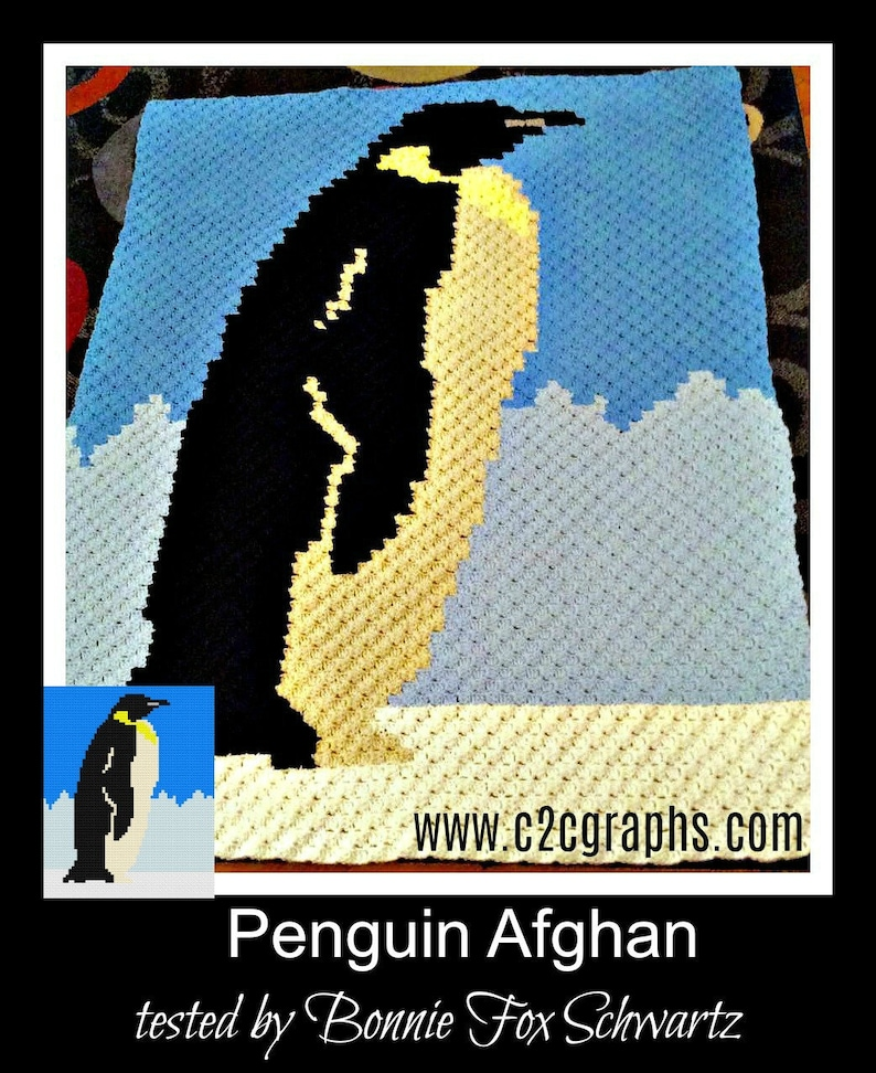 Penguin Afghan, C2C Crochet Pattern, Written Row Counts, C2C Graphs, Corner  to Corner, Crochet Pattern, C2C Graph