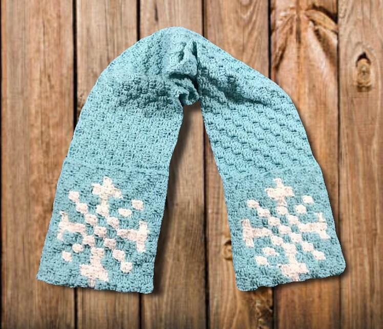 Snowflake Scarf C2c Crochet Pattern Written Row By Row Counts C2c
