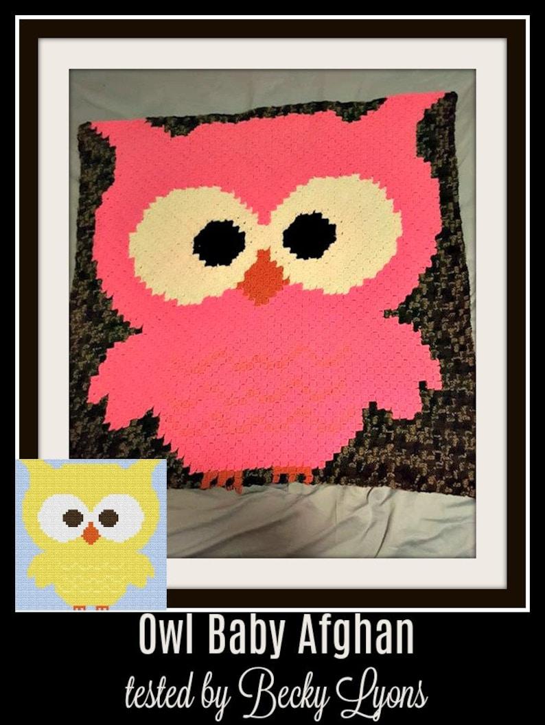 Owl Baby Afghan, C2C Crochet Pattern, Written Row Counts, C2C Graphs,  Corner to Corner, Crochet Pattern, C2C Graph