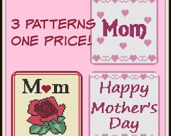 Mom's Afghan, Blankets, Set of 3 Patterns, C2C Crochet Pattern, Written Row Counts, C2C Graphs, Corner to Corner, Crochet Pattern, C2C Graph