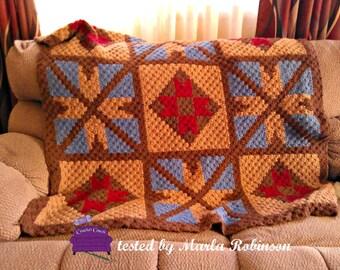 Diamond Quilt Blanket, C2C Crochet Pattern, Written Row Counts, C2C Graphs, Corner to Corner, Crochet Pattern, C2C Graph