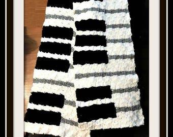 Piano Scarf, C2C Crochet Pattern, Written Row Counts, C2C Graphs, Corner to Corner, Crochet Pattern, C2C Graph