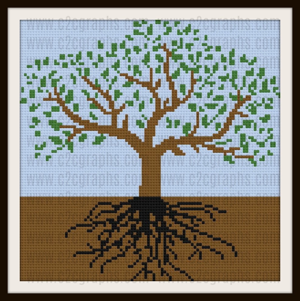 Tree of Life Afghan, C2C Crochet Pattern, Written Row Counts
