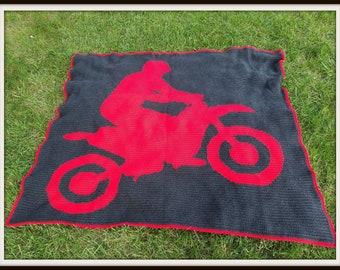 Dirt Bike Crochet Pattern, SC Graph, TSS Graph, Word Chart, Dirt Bike Crochet Pattern