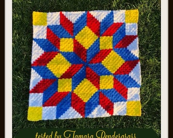 Colorful Kids, Carpenter Wheel Afghan, C2C Crochet Pattern, Written Row by Row, Color Counts, Instant Download, C2C Graph, C2C Pattern