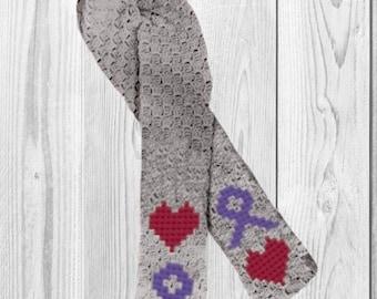 Ribbon Scarf, C2C Crochet Pattern, Written Row Counts, C2C Graphs, Corner to Corner, Crochet Pattern, C2C Graph