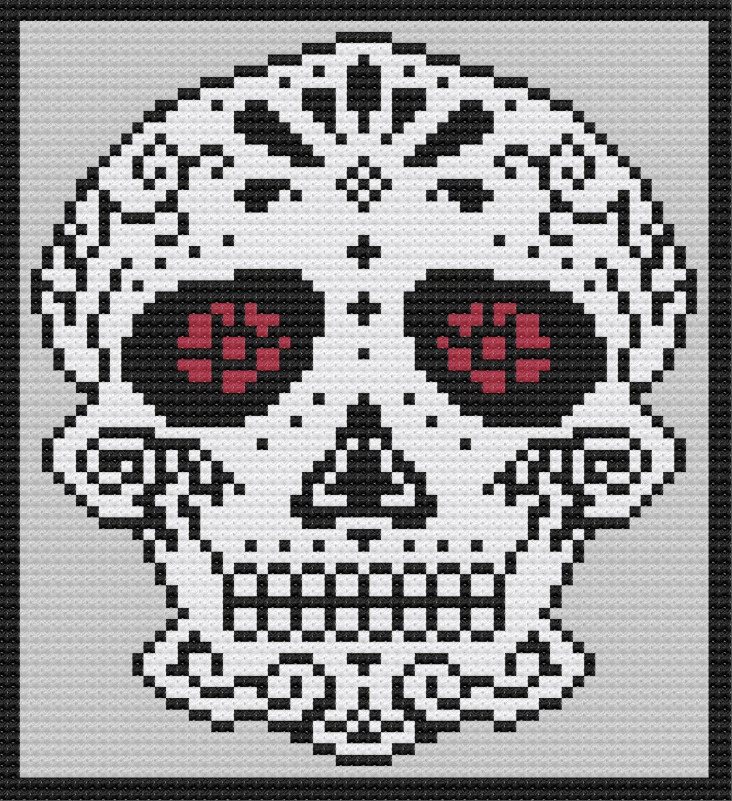 Sugar Skull Amigurumi Free Crochet Pattern • Spin a Yarn Crochet | 1641x1500