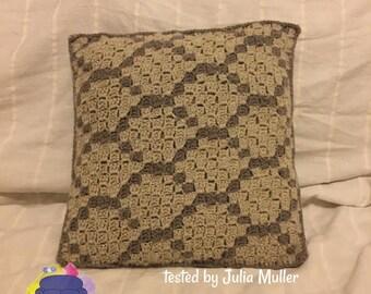Honeycomb Pillow, C2C Crochet Pattern, Written Row by Row, Color Counts, Instant Download, C2C Graph, C2C Pattern, Crochet Pillow