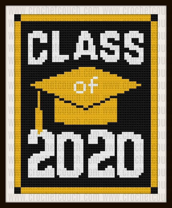Class of 2020 afghan, C2C Crochet Pattern, Written Row Counts, C2C Graphs,  Corner to Corner, Crochet Pattern, C2C Graph