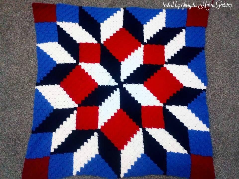 Carpenter Wheel Baby Blanket C2c Crochet Pattern Written Row