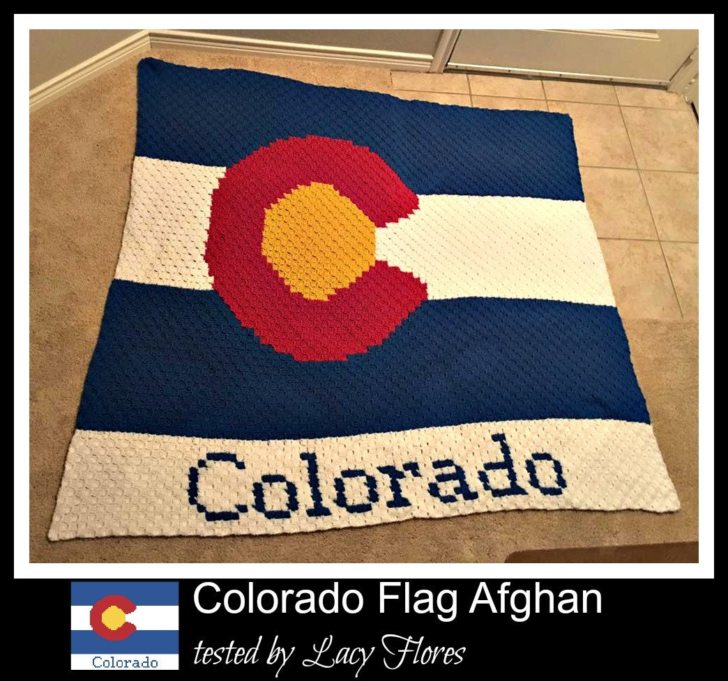 Colorado Flag Afghan C2c Crochet Pattern Written Row Counts