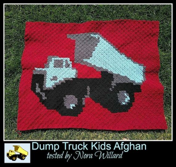 Dump truck Kids Afghan, C2C Crochet Pattern, Written Row Counts, C2C  Graphs, Corner to Corner, Crochet Pattern, C2C Graph