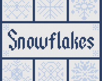 Snowflake Squares Afghan, C2C Crochet Pattern, Written Row by Row, Color Counts, Instant Download, C2C Graph, C2C Pattern, C2C Crochet