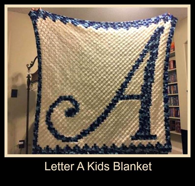 Letter A Kids Afghan, C2C Crochet Pattern, Written Row Counts, C2C Graphs,  Corner to Corner, Crochet Pattern, C2C Graph