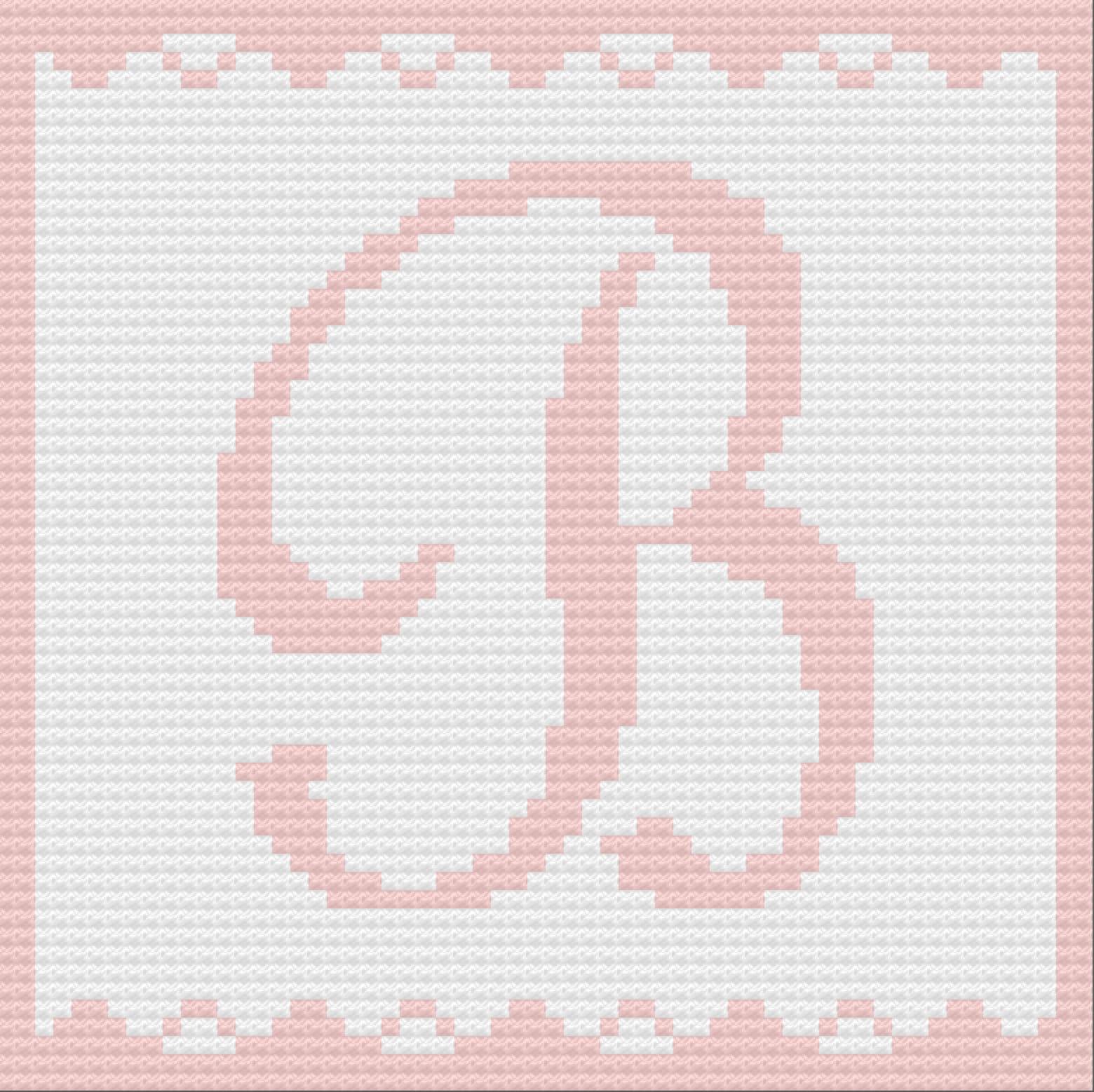Letter B Baby Blanket C2c Crochet Pattern Written Row Counts C2c Graphs Corner To Corner Crochet Pattern C2c Graph
