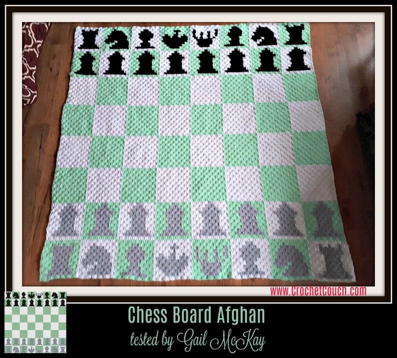 Chess Board Afghan, C2C Crochet Pattern, Written Row Counts, C2C Graphs,  Corner to Corner, Crochet Pattern, C2C Graph