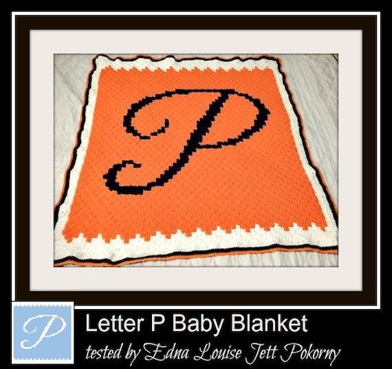 Letter P Baby Blanket, C2C Crochet Pattern, Written Row Counts, C2C Graphs,  Corner to Corner, Crochet Pattern, C2C Graph
