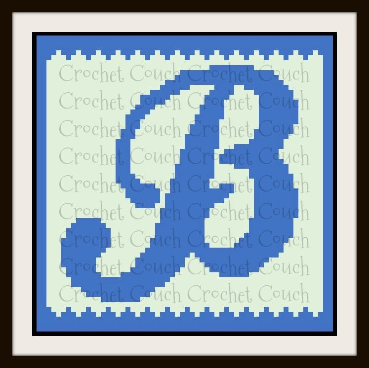Letter B Kids Afghan C60C Graph Crochet Pattern Amazing C2c Crochet Pattern Rectangle