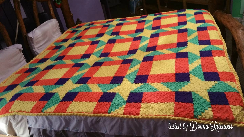 Melissa Quilt Afghan C2c Crochet Pattern Written Row Counts C2c