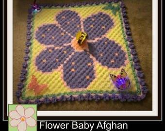 Flower Afghan, C2C Crochet Pattern, Written Row Counts, C2C Graphs, Corner to Corner, Crochet Pattern, C2C Graph