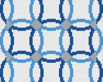 Wedding Ring 4 colors, Quilt Afghan, C2C Crochet Pattern, Written Row Counts, C2C Graphs, Corner to Corner, Crochet Pattern, C2C Graph