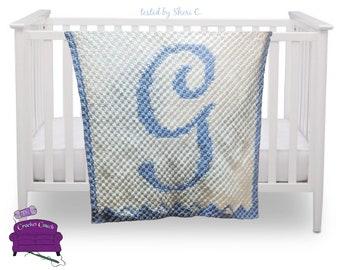 Letter Baby Blanket, C2C Crochet Pattern, Written Row Counts, C2C Graphs, Corner to Corner Crochet Pattern, C2C Graph