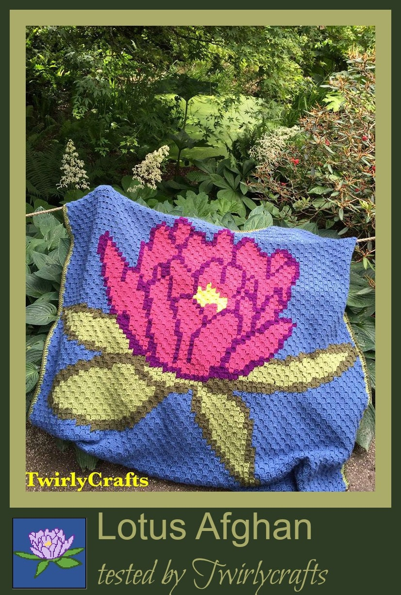 C2c Graph Lotus Afghan C2c Graph With Written Word Chart Etsy