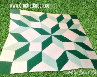 Carpenter Wheel Afghan, King Size, C2C Crochet Pattern, Written Row Counts, C2C Graphs, Corner to Corner, Crochet Pattern, C2C Graph