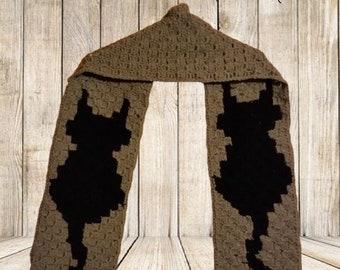 Cat Scarf, C2C Crochet Pattern, Written Row Counts, C2C Graphs, Corner to Corner, Crochet Pattern, C2C Graph