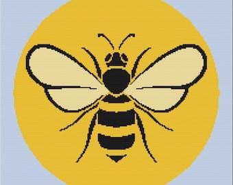 Honeybee Afghan, sc Crochet Pattern, tss Crochet Pattern, Written Row by Row, Color Counts, Instant Download, sc Graph, tss Graph