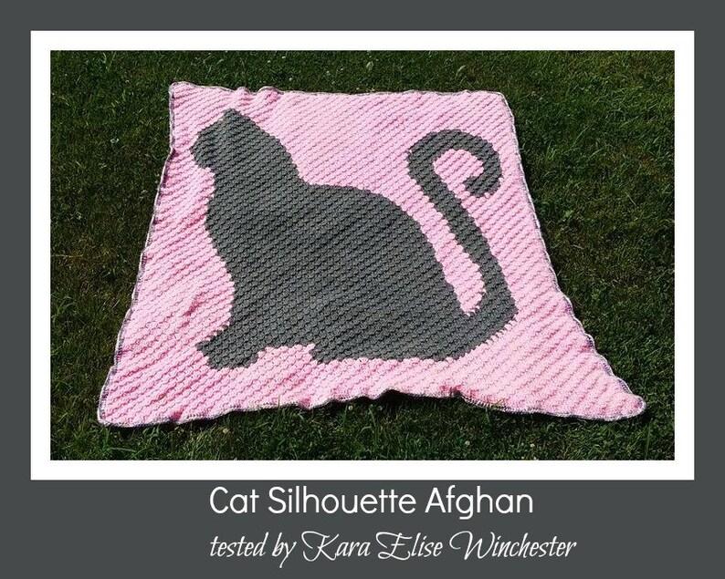 Cat Silhouette Afghan, C2C Crochet Pattern, Written Row Counts, C2C Graphs,  Corner to Corner, Crochet Pattern, C2C Graph