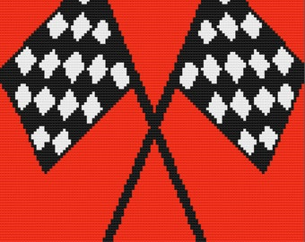 Checkered Flag Queen Afghan, C2C Crochet Pattern, Written Row by Row, Color Counts, Instant Download, C2C Graph, C2C Pattern, Graphgan