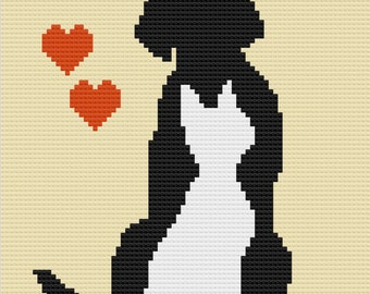 Pets - Dog and Cat Afghan, C2C Crochet Pattern, Written Row by Row, Color Counts, Instant Download, C2C Graph, C2C Pattern, Graphgan