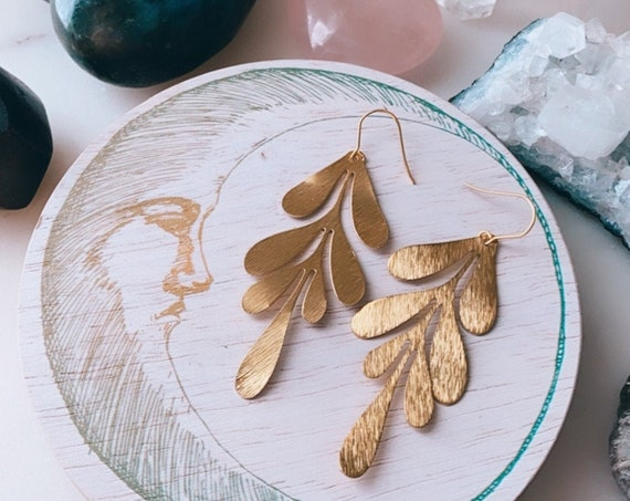 FEMME FLOW dangle drop golden feminine minimal statement earrings