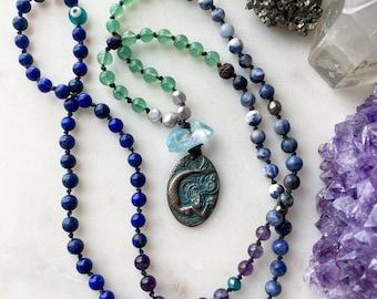 SIREN mermaid sea mala crystal energy healing meditation necklace