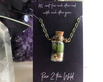 TINY TERRARIUM Living Moss Necklace