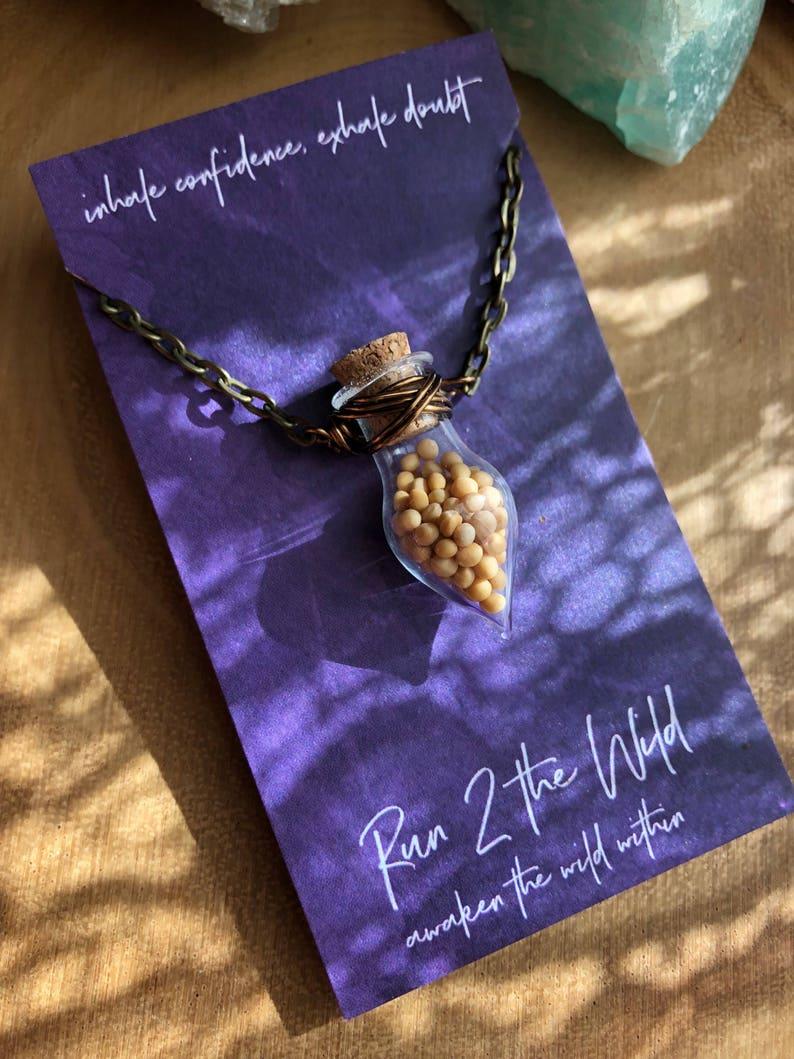 Sale FAITH mustard seeds bottled teardrop necklace bible verse inspiration