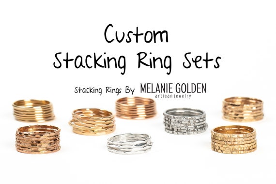 Create Your Own Custom Stacking Ring Set // Silver, Gold or Rose choose customize personalize stack rings stacking rings stackable rings
