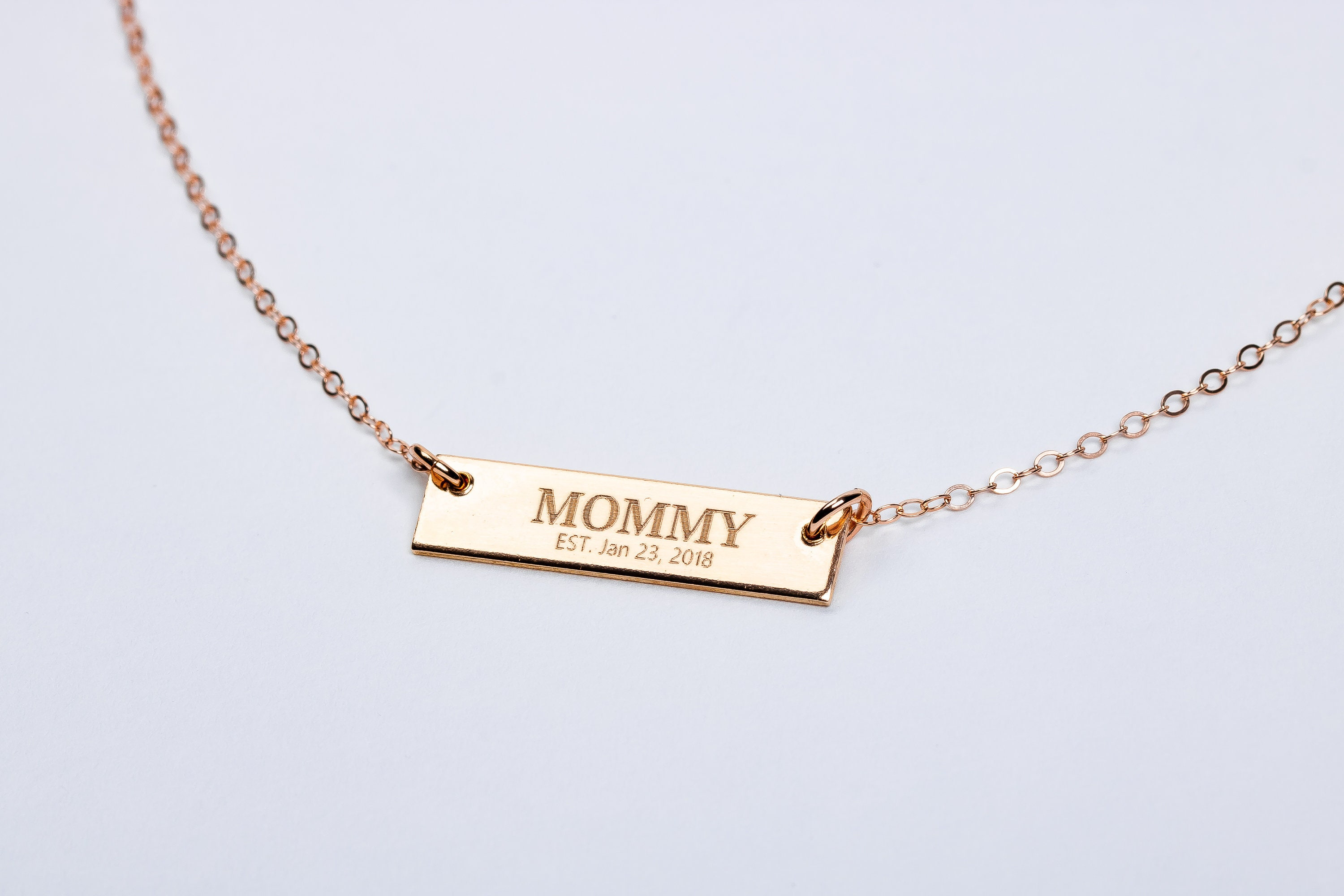 1ff05d9c3fa0 New Mom Necklace    Personalized Horizontal Bar Necklace    Gift for new  mother mommy mama momma present    Mothers Day Gift    Birth gift