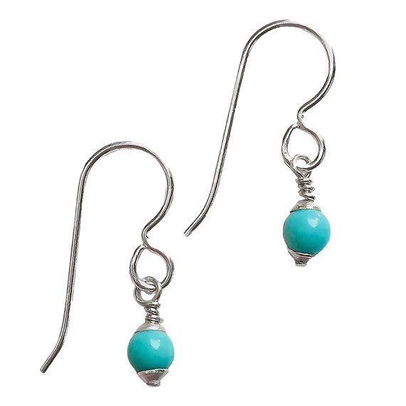 Turquoise ceramic earrings with white polka dots original silver jewelry for ideal gift for women Mediterranean fun handmade fish earrings