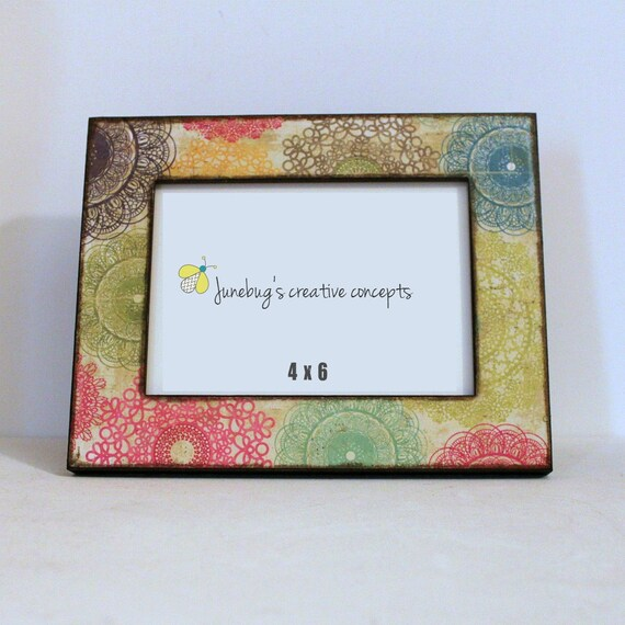 Marco de fotos 4 x 6 brillante coloridos tapetes | Etsy