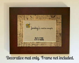 French Burlap Picture Mat for 5x7 or 8x10 Frame
